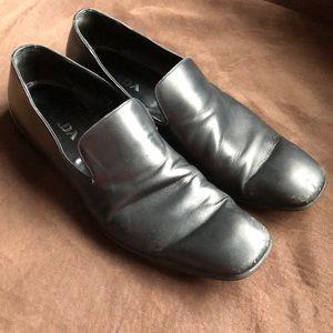 Prada Black leather loafers 9.5